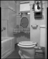 Windemere Hotel bathroom, Santa Monica, [1955]