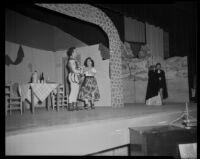 """Rigoletto"" production with Enrico Porta and others  Barnum Hall, Santa Monica, 1956"