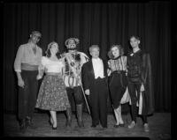 """""""Rigoletto"""" cast members with conductor Mario Lanza, Barnum Hall, Santa Monica, 1956"""