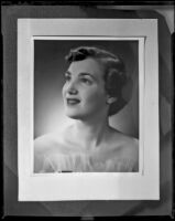 Woman, likely an opera singer in production of Faust, [rephotographed], Santa Monica, 1960