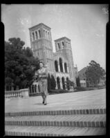 Miriam Braun, on the Janss steps at UCLA, Los Angeles, 1949