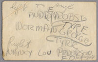 List of names Los Angeles High School Seniors Audrey E. Probst, Norman George Tyre and Nancy Lou Pederson, Los Angeles, 1941