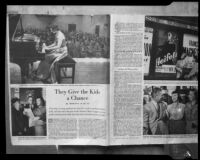 """Pages of article, """"They Give the Kids a Chance,"""" circa 1952"""