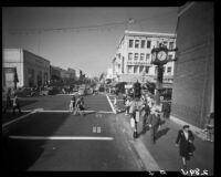 Third Street from Santa Monica Blvd. at Christmas time, Santa Monica, 1945-1947