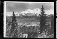 Mountain range and valley, Arizona or California