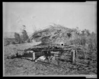 "Chemehuevi Indian ""Suguin"" or granary for mesquite beans, Mojave Desert, circa 1900"