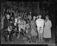 Performers and attendees at the Will Rogers Memorial Celebration, Santa Monica, 1940