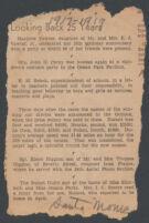 Newspaper article describing road race winners, Santa Monica, [1942-1944?]