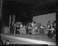 """Traviata"" production with act 2, scene 2 dancing gypsies, John Adams Auditorium, Santa Monica, 1949"