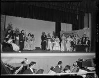 """Traviata"" production, John Adams Auditorium, Santa Monica, 1949"