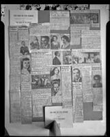 Collage of newspaper clippings regarding Santa Monica Civic Opera productions, 1950