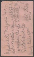 Handwritten note detailing directions to a home photographed by Adelbert Bartlett, 1939