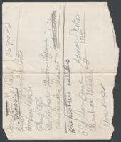 Adelbert Bartlett's notes about Mary Westover's collections, 1937