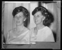 Carolyn Bartlett Farnham backstage at Symphonies-by-the-Sea, copy prints, Santa Monica, 1964