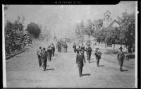 G.A.R. Memorial Day parade, copy print, Santa Monica, 1893