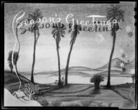 "Christmas card reading ""The Season's Greetings,"" circa 1950's"