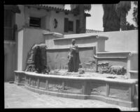 Ada E. Bowers Memorial Fountain in the courtyard of the Bowers Museum, Santa Ana, between 1936-1965