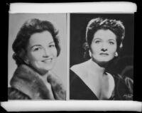 Portrait photographs of 2 women (copy prints)
