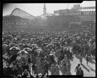Crowds along Lick Pier, Venice , 1928