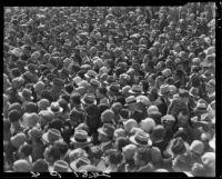 Crowds at Lick Pier or Ocean Park Pier, Santa Monica or Venice, 1928