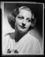Portrait of Leona Bertrand by Ed Sweeney, copy print, circa 1937
