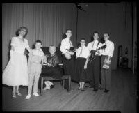 Barsha Bavetta with musicians, 1950-1965