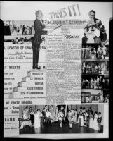 Collage commemorating the 8th annual season of the Santa Monica Civic Opera, 1951