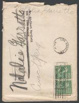 Negative envelope for portraigs of Natalie Garrotto, circa 1950-1960