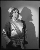 Enrico Porta in costume for opera role, Santa Monica, 1951