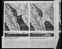 Page of article describing the formation of the Salton Trough and the Salton Sea, 1952