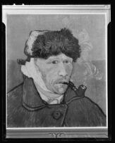 Vincent van Gogh's self portrait with bandaged ear (photograph of a reproduction)