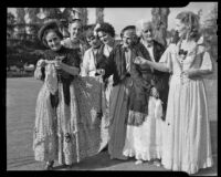 Women dressed as mid-19th century pioneers at the annual Pioneer Day event, Ocean Park, Santa Monica, 1938