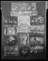 "Poster with 12 photographs of a Culver City Light Opera Association production of ""The Student Prince"" at Barnum Hall, Santa Monica, 1952"