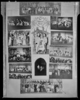 """Poster with 12 photographs of a Culver City Light Opera Association production of """"The Student Prince"""" at Barnum Hall, Santa Monica, 1952"""