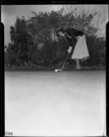 Actress Ruby Keeler golfing at the midwinter invitation tournament of the los Angeles Country Club, California, 1939