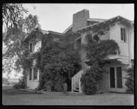 Will Rogers ranch house, exterior view of the north-facing side, Pacific Palisades, 1935