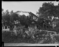 Will Rogers ranch house, exterior view of the south-facing side, Pacific Palisades, 1935
