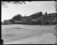View towards Will Rogers' ranch house, Pacific Palisades, 1935