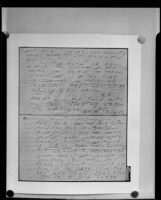 Handwritten letter from extortionist to Mae West, 3rd and 1st pages, 1935