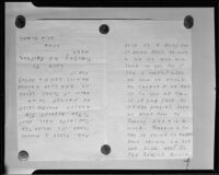 Handwritten letter from extortionist to Mae West, 1935