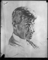 Portrait of Will Rogers by artist Henry B. Goode, circa 1930-1935