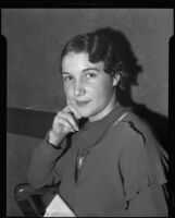 Lois Wright, witness in Mary Emma James murder case, Los Angeles, 1935