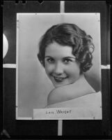 Lois Wright, witness in Mary Emma James murder case, circa 1935