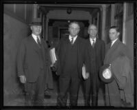 Fox West Coast Theatres attorneys Oscar Lawler, Walter Tuller, Louis Myers, and Alfred Wright, 1936