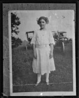 Girl in eyelet-trimmed dress, [Ohio?], [1910-1925?]