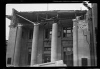 Earthquake-damaged First National Bank, Santa Barbara, 1925