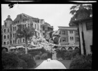 Earthquake-damaged Arlington Hotel, Santa Barbara, 1925