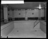 Biltmore Hotel indoor pool without water, Los Angeles, [1920s?]