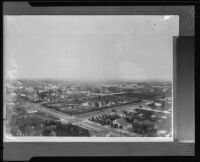 Bird's-eye view of Central Park (Pershing Square), Los Angeles, [1890s?], [rephotographed 1930s?]