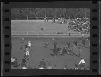 Football game, Occidental College vs. Pomona College, Eagle Rock, 1936
